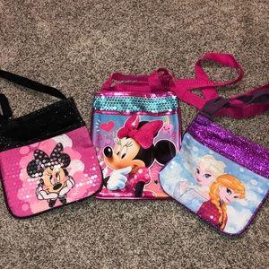 Set of 3 Disney girls Purses